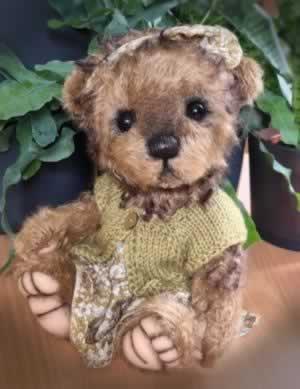 Three O'Clock Teddy Girl by Jenny Johnson - adopted